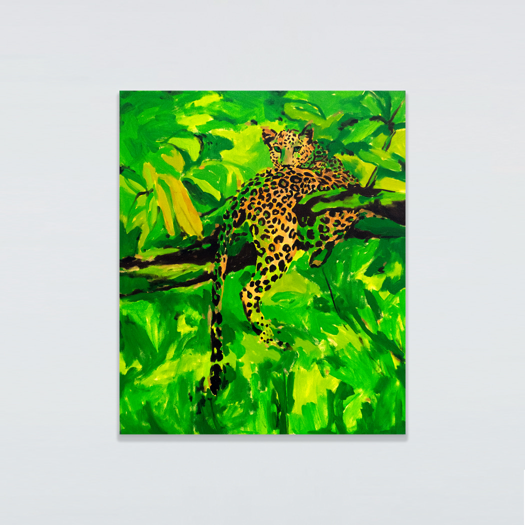 임선희, Study for Leopard with Brush strokes, 2019